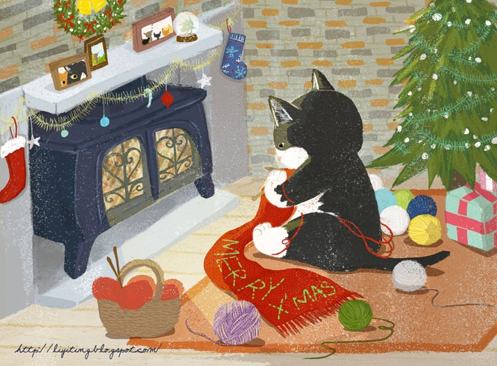 500 Best Christmas Cats 1 Images On Pinterest