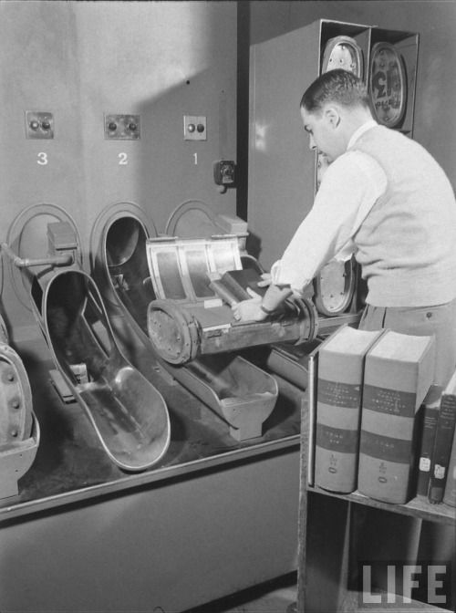pneumatic tube system for books