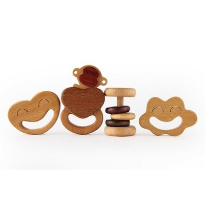 [Rare Device] Wooden Rattles + Teethers Set - $32