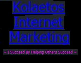 Kolaetos Free Web Traffic System! This system is nothing like you've ever seen before, period! It will completely blow you away with its simplicity and fool-proof effectiveness! The best thing about this system is that it's totally free forever, no hidden costs, it's so easy to duplicate and you cannot fail with it! Try it out and I guarantee you will not be disappointed.  http://kolaetosinternetmarketing.WebStarts.com