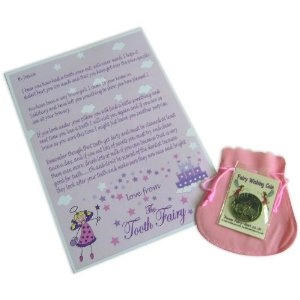 Amazing Tooth Fairy Idea: As a special reward for an exceptionally pearly-white tooth, the Tooth Fairy brings a magical wishing coin to use in any fountain of her choice. This is a great idea, because it creates an opportunity for a special outing to a tourist spot or a restaurant that has a fountain. - Personalized Tooth Fairy Letter for Girls from Amazon