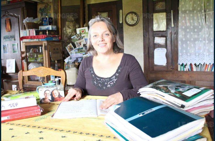 Anne Lançon, maman,  qui a assuré également l'instruction de ses deux filles durant plusieurs années.. Photo Christelle KLUGA