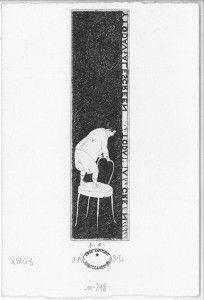 Sin título No. 248. 2007. Aguafuerte. P/A. 16 x 10 cm