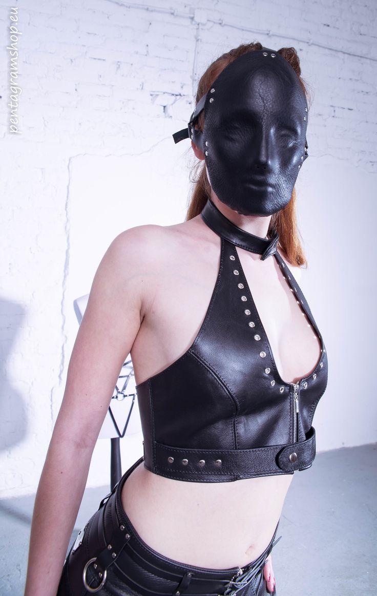 """Leather face mask """"Eyes wide shut"""" #pentagramshop #fetish #bdsm #leather #mask"""