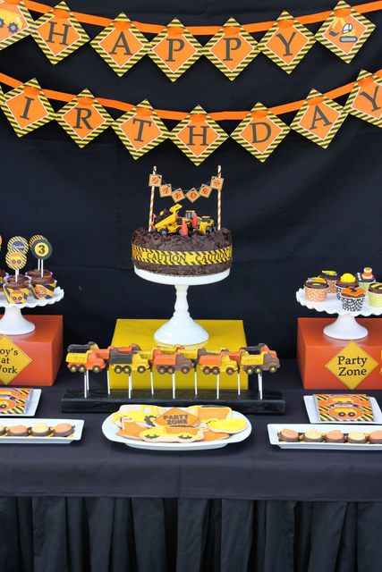 Incredible Construction Birthday Party!  See more party ideas at CatchMyParty.com!  #partyideas #construction