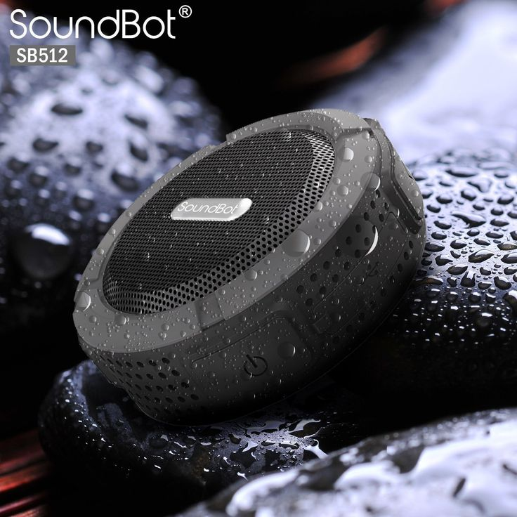 SoundBot SB512 HD Water & Shock Resistant Bluetooth 3.0 Wireless Shower Speaker, Handsfree Portable Speakerphone with MicroUSB Charging Port, 3W Output, Built-in Mic, 6hrs of playtime, Control Buttons and Dedicated Suction Cup for Showers, Bathroom, Pool, Boat, Car, Beach, & Outdoor Use