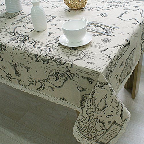 17 best tablecloth images on pinterest table runners table antique world map tablecloth decorative table cover cotton linen table cloth lace macrame gumiabroncs Image collections