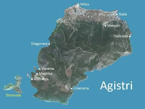 Agistri Greece map