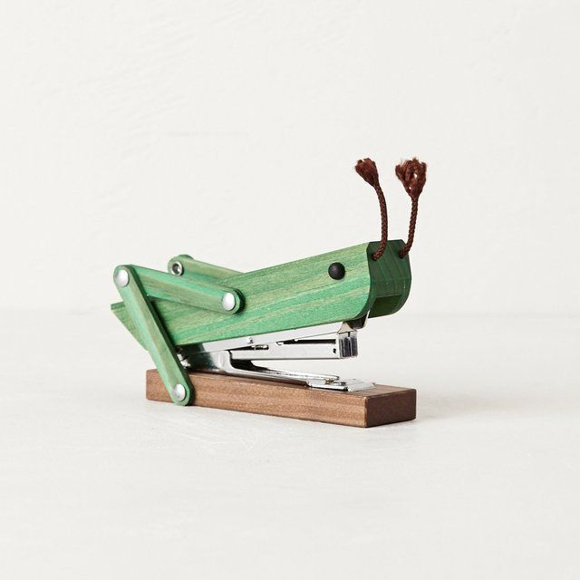 cool school supplies - Grasshopper Stapler from anthro...just makes me smile...could be good to have on the desk ;)