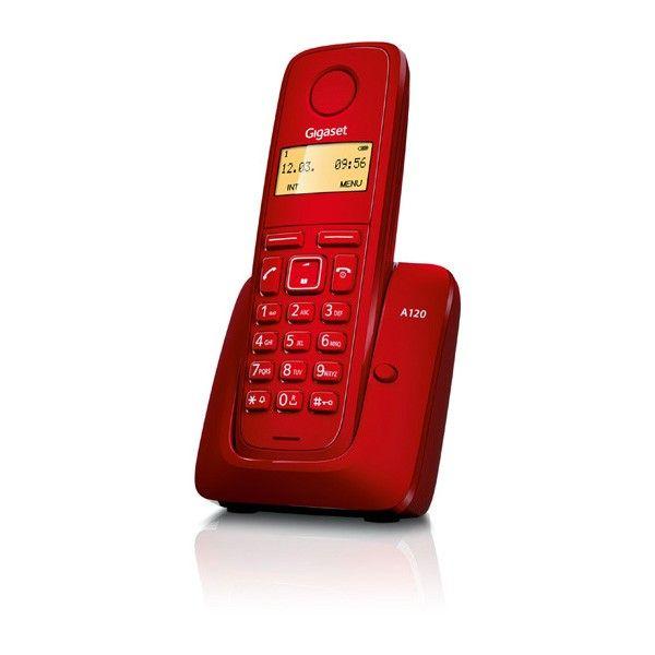 Teléfono inalámbrico Dect Gigaset A120 rojo en #MaxMovil.com