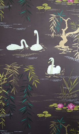 I like dark wallpaper. It's moody. I'd like it for a bathroom