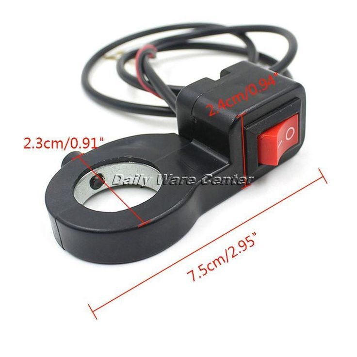 [Visit to Buy] Handlebar Switch Universal Motorcycle Scooter ATV Headlight Fog Spot Lamp  Electrical Start ON-OFF Kill Switch Moto Spare Parts #Advertisement