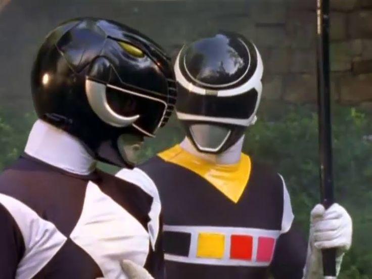 Power Ranger En El Espacio | Black Ranger In Space y MMPR team-up - Adam...