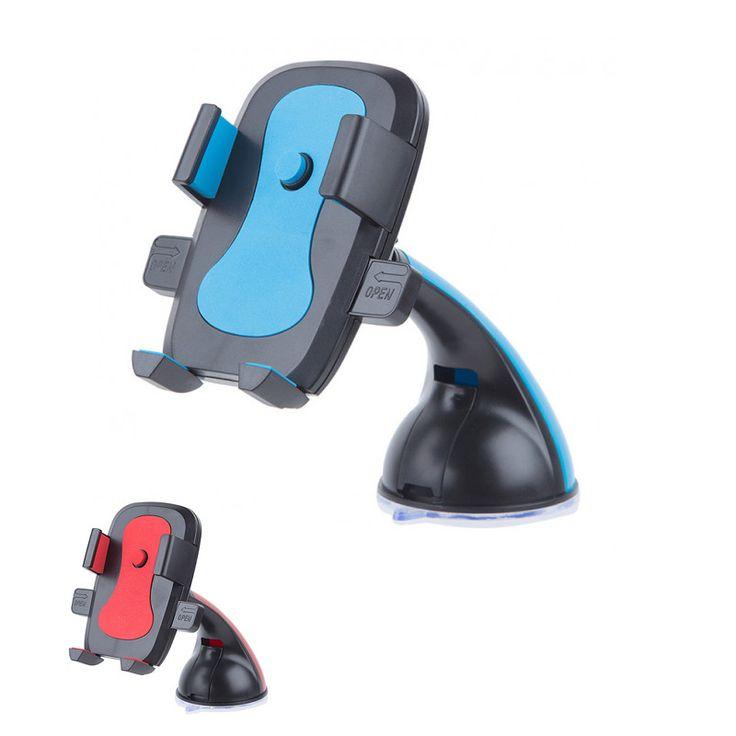 Βάση στήριξης κινητών, κάμερας και GPS για το αυτοκίνητο με βεντούζα. Τοποθετείται εύκολα στο παρμπρίζ ή στο ταμπλό του αυτοκινήτου και μπορείτε να τη ρυθμίσετε όπως επιθυμείτε.  Kατάλληλο για κινητά 4 – 6.3 ιντσών. Πλήρης περιστροφή 360°