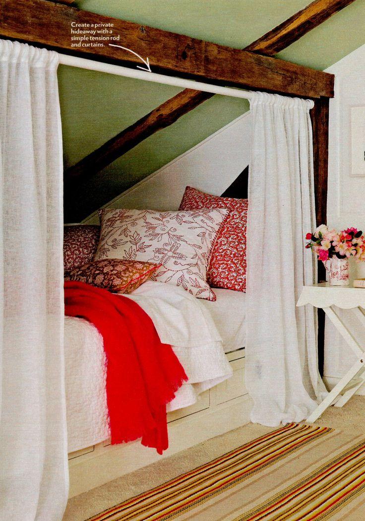 Unique idea for beds under a sloped ceiling