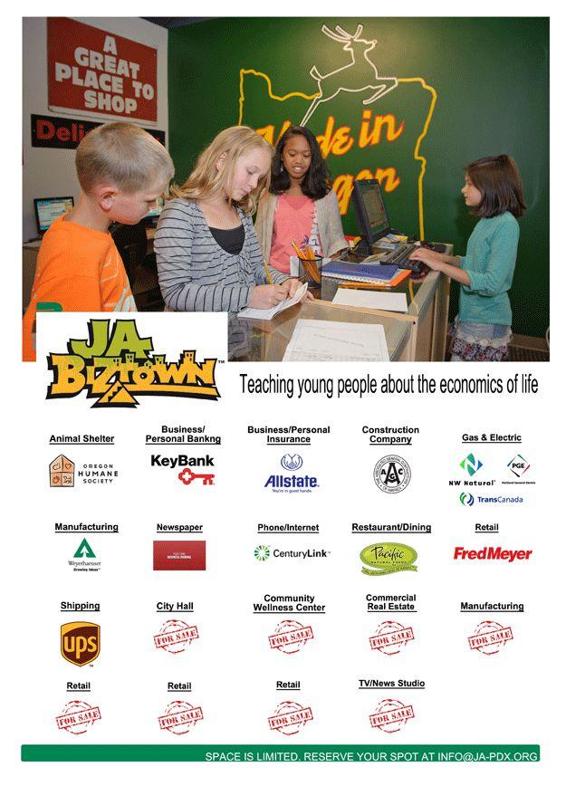 JA Oregon & SW Washington - JA BizTown (JABT) - Work Readiness, Financial Literacy, Entrepreneurship   Junior Achievement
