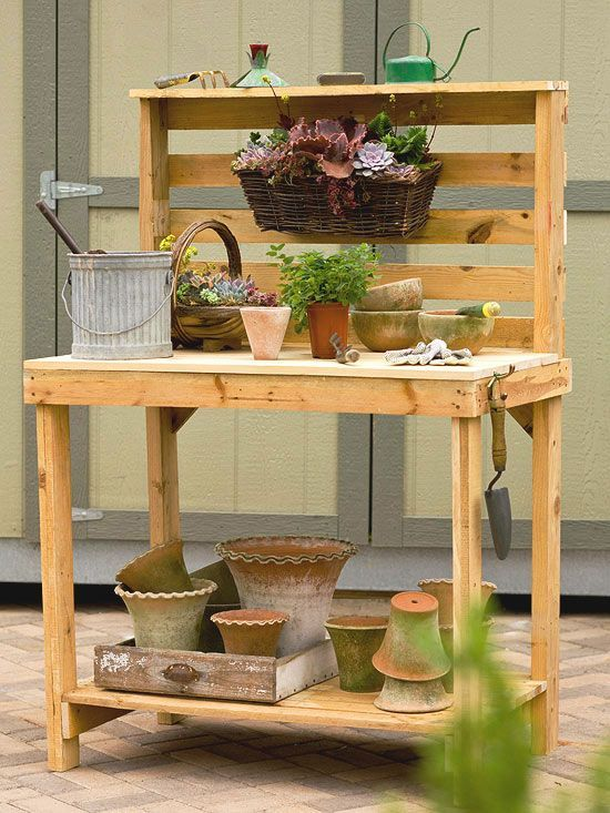 Garden Ideas Made From Pallets best 25+ pallet potting bench ideas on pinterest | potting station