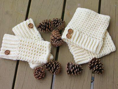 Brooklyn Fingerless Mitts/Wrist Warmers and boot cuffs, Free Crochet Pattern