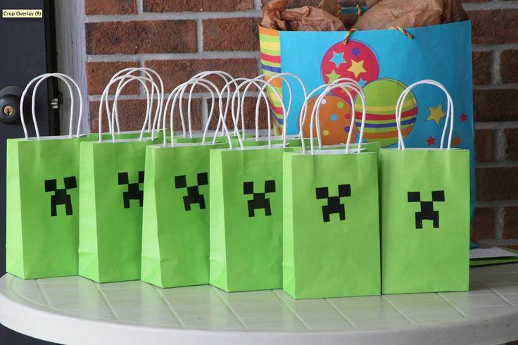 DIY Minecraft Party Decorations | Small Town Fashionista: DIY Birthday Themes