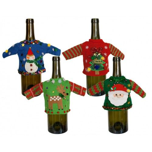 Wine Bottle Ugly Sweater--would be funny for Elf on the Shelf to wear one!