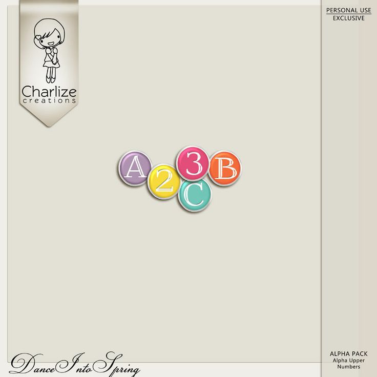Oscraps :: Shop by Designer :: Charlize Creations :: Dance Into Spring Alpha Pack