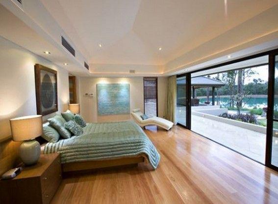 gambar lantai kayu rumah minimalis di kamar tidur 6
