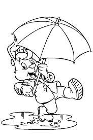 kleurplaat bobo - met paraplu