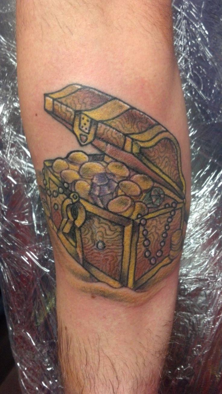 Treasure Chest Tattoo: 34 Best Treasure Tattoo Images On Pinterest