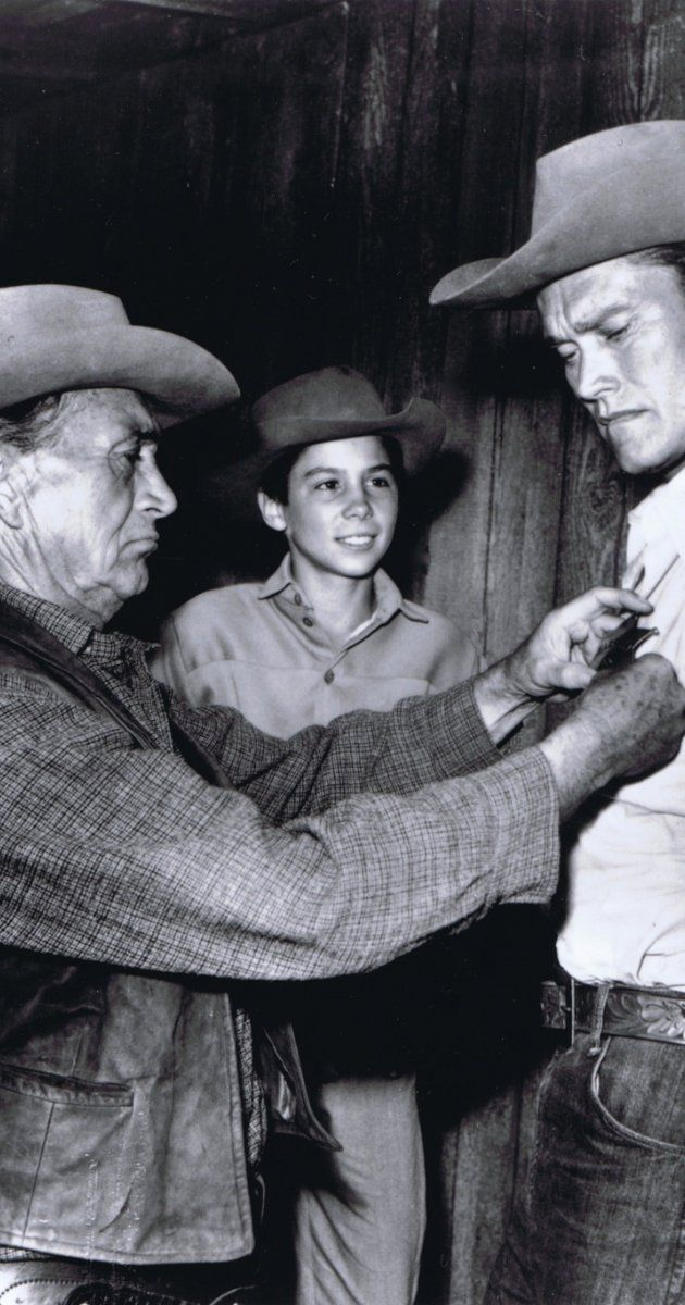 Chuck Connors, Johnny Crawford and Paul Fix in The Rifleman (1958)