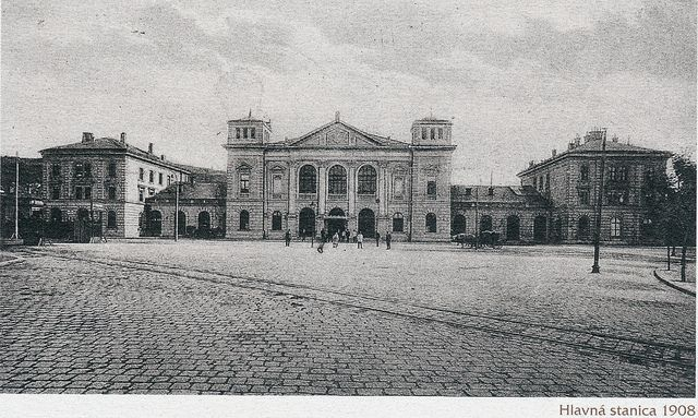 Bratislavská Hlavná stanica. Fotografia z roku 1908.