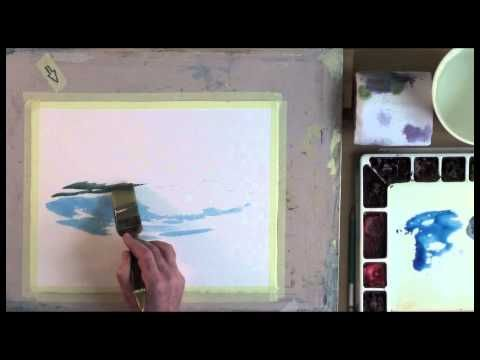 Painting a Breaking Wave in Watercolor - YouTube
