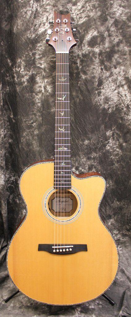 PRS SE Angelus AE50E Natural Acoustic Electric Guitar w/Case