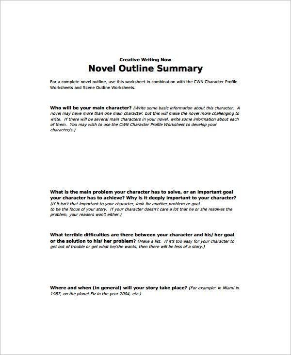 Novel Story Outline Template Outline Sample Story Outline