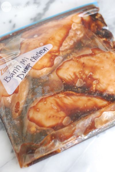 Bahn Mi Inspired Dump Chicken Tacos