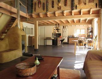 Le chef-d'œuvre l'intérieur de ma vie Cuisine,récupération,plafond,chaux,solive,argile,sol,masque,paille,carrellage,écorcage,bois brut,menuiserie modifier,planche de coffrage