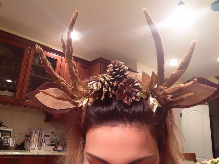 my headband and antlers for my halloween costume made by me hair clothes everything in. Black Bedroom Furniture Sets. Home Design Ideas