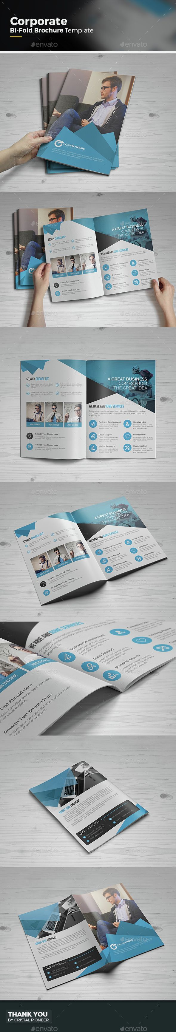 Corporate Bi Fold Brochure Template Vector EPS, AI. Download here: http://graphicriver.net/item/corporate-bi-fold-brochure/15278254?ref=ksioks