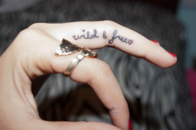 """""""All good things are wild and free."""" - Henry Thoreau. love this tattoo, but not on the finger"""