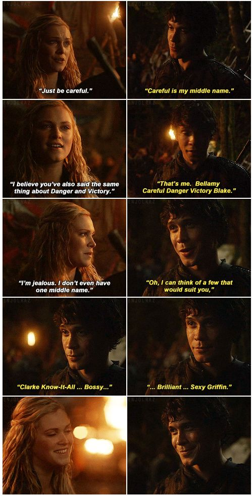 Bellamy Blake and Clarke Griffin || The 100 || Bellarke scenes from the book || Bob Morley and Eliza Jane Taylor