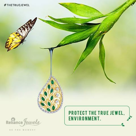 We need the environment. The environment needs us. Let's protect it together. Join us in conserving the environment. Simply inbox us your contact details (Name | Number | Email | Address) on Facebook, and we shall send a tree to you for you to plant and express your contribution. Reliance Jewels. Be The Moment #Reliance #RelianceJewels #Jewels #Jewellery #Pendant #Diamond #Gold #bethemoment