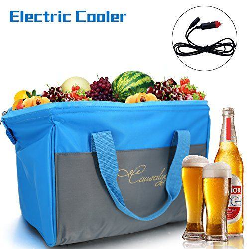 Causalyg 20-Can Soft Electric Cooler & Warmer Bag Insulated Picnic Lunch Bag, 12V DC Portable Fridge, Travel Cooler Bag For Car, Baby Bottles, Beach, Camping, Picni, Travel - 18L Capacity. For product info go to:  https://all4hiking.com/products/causalyg-20-can-soft-electric-cooler-warmer-bag-insulated-picnic-lunch-bag-12v-dc-portable-fridge-travel-cooler-bag-for-car-baby-bottles-beach-camping-picni-travel-18l-capacity/