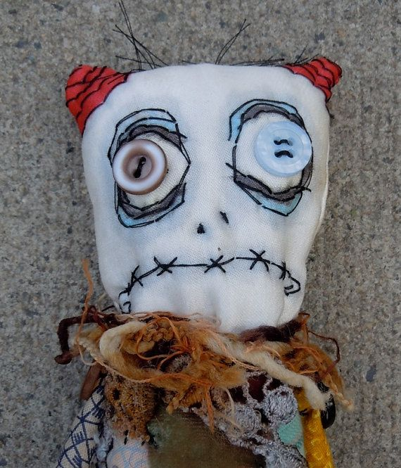 Hey, I found this really awesome Etsy listing at https://www.etsy.com/listing/81313482/handmade-zombie-goth-monster