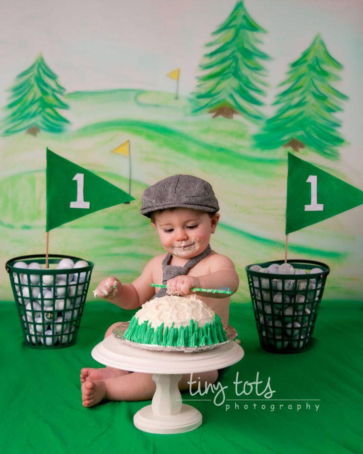 Birthday Party Ideas Augusta Ga: Golf Themed Cake Smash - Akron Child Photographer