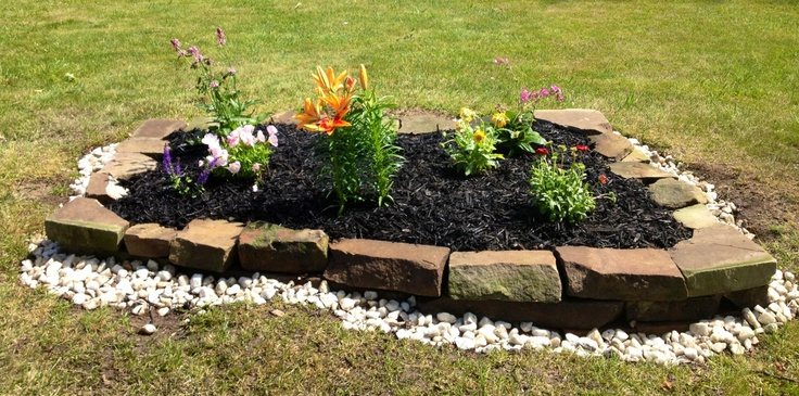 diy flower bed outdoor gardens