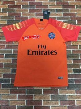 d049ec42d 2018-19 Cheap Goalie Jersey PSG Orange Replica Soccer Shirt  DFC42 ...