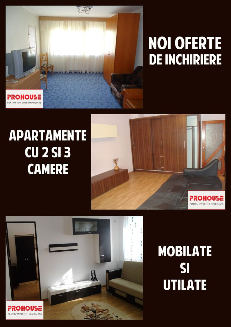 Oferte actualizate de inchirieri apartamente bacau pe site-ul nostru www.prohouse.ro