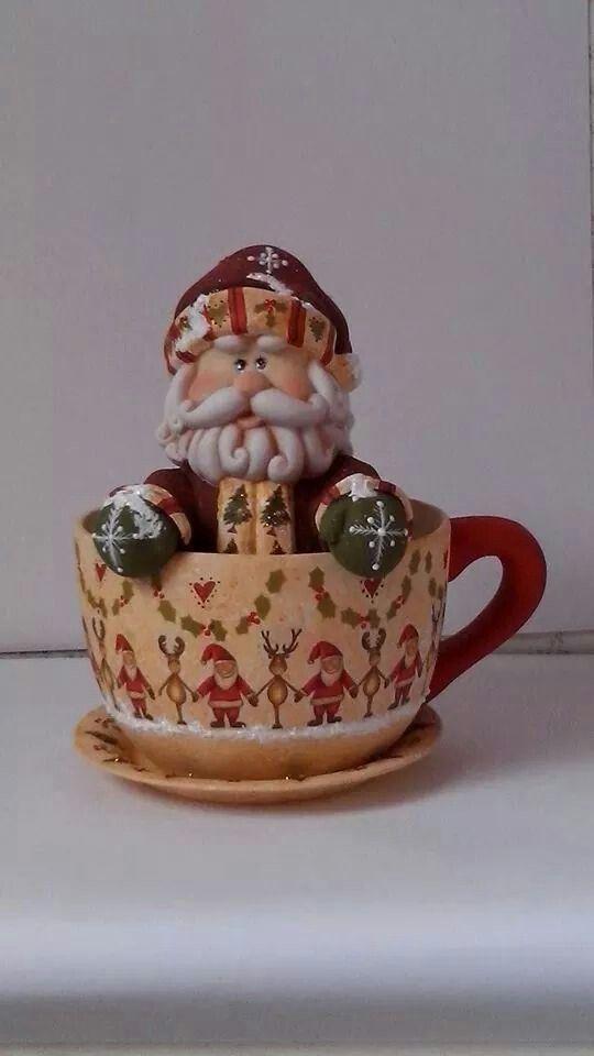 Santa en taza