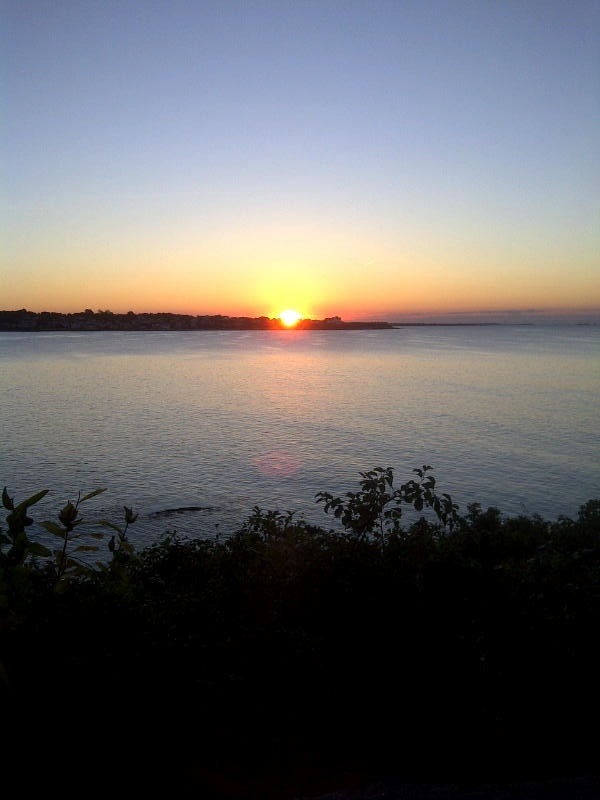 Sunrise off the Cliff Walk.