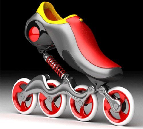 Coil-over suspensions for inline skates. People do all kinds of cool stuff with springs.