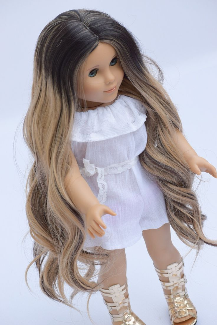 Wig Name : SASHA 16 inches in length with a 11″ head circumference THIS WIG IS A LIMITED EDITION WIG WITH ALMOST DOUBLE AMOUNT OF HAIR. THE FULLNESS IS AMAZING! THIS WIG IS ONLY ONLY FOR A LIMITED TIME! This listing is for a Custom Wig originally Designed For American Girl Dolls or any 10-11 …